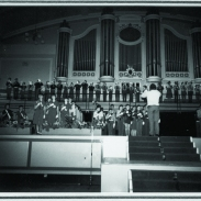 The massed Brass under the direction of John Ison