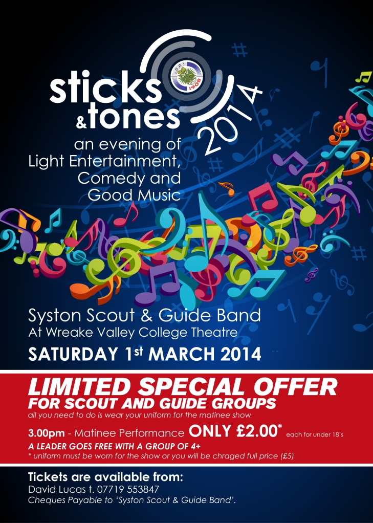 Sticks and Tones 2014 Poster S&G-01